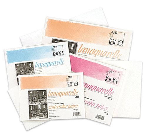 Lanaquarelle Watercolor Paper 140 lb. Block (20 Sheets) 10x14' - Cold Press
