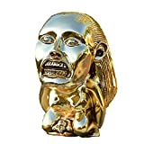 Alkyne Indiana Jones Polished Gold Chachapoyan Fertility Idol with Eye, The Lost Ark Cosplay Props Replica, Golden Sculpture Decor for Living Room, Bedroom, Office Desktop (B)