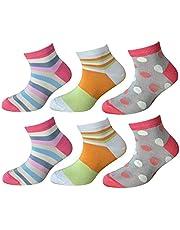 CriCri Socks 6 Paia Calze Calzini Bambina Ragazza Fresco Cotone Mercerizzato Alta Qualità Made in Italy - Primavera Estate