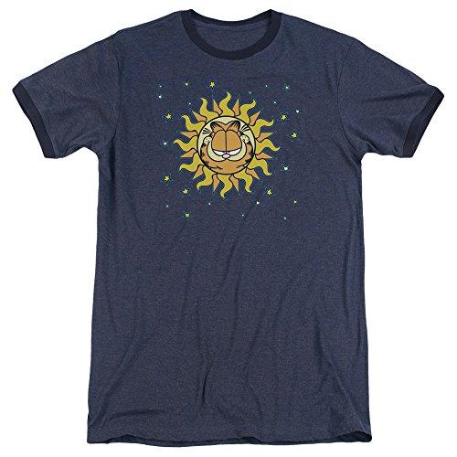 Garfield Das himmlische Wecker-T-Shirt der Männer, Large, Navy