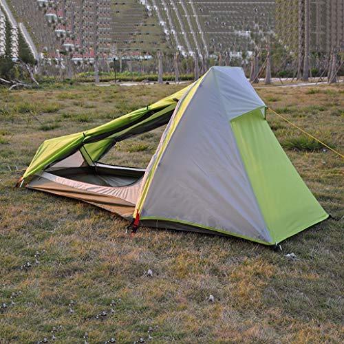 SMSJ-YJ Ultraligero Tent 1 Capas Persona Acampar al Aire Libre Impermeable Doble toldo de Aluminio Solo Hombre turísticos de Senderismo con Mochila Tiendas de campaña Individuales