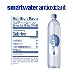 Smartwater antioxidant, 33. 8 fl oz bottles, pack of 12 12 purity you can taste. Hydration you can feel. Your newest way to hydrate the smartwater you love with a smart new twist. Vapor distilled water for purity, added electrolytes for taste and now infused with antioxidant selenium. Smartwater antioxidant water is the same crisp, clean water you love, it's vapor distilled, with added electrolytes for taste and infused with antioxidant selenium.