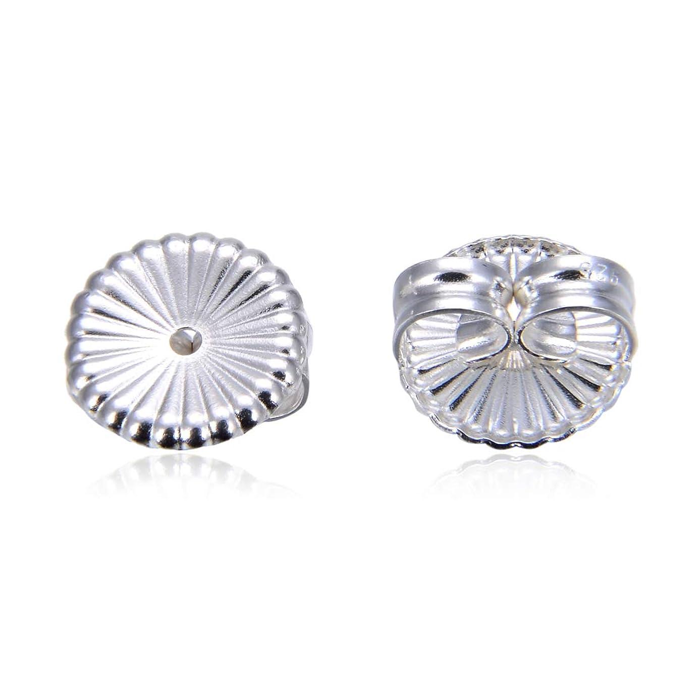 10pcs Authentic Sterling Silver 9mm Large Butterfly Earring Safety Backs Earnut Ear Nut Clutches for Stud Earrings SS331