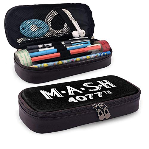 Leder-Federmäppchen für Schüler Büro MASH Distressed Hedging Pen Pencils Box