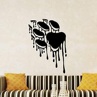 N.SunForest Paw Print Paint Splatters Decorative Vinyl Wall Decal Home Decor