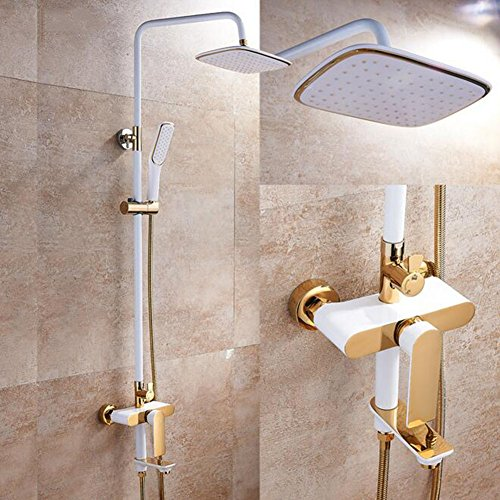 Lowest Prices! Shower mixer Bathroom Rain Mixer Shower Combo Set Shower System Include Luxury Bath R...
