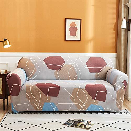 Funda De Sofá Elástica Antideslizante Retráctil De Rayas Azules, Cojín De Sofá De Sala De Estar En Casa, Funda Protectora De Sofá De Reposabrazos 1 Seater (90-140 cm)