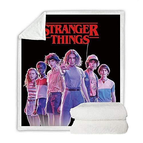 LIFUQING Manta Stranger Things Adult Futon Sofa Sherpa Blanket Adult-150X200Cm