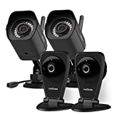 meShare 1080p Full HD Indoor Outdoor Wireless Security Camera System with Smart Motion Alerts, Night Vision, Compatible with Alexa