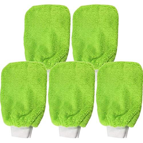 Microfaser Allzweck Handschuhe multifunktional | (5-teilig) CABURIclean Set. Nr. 18 | 5 x Mikrofaser Handschuhe grün (16 x 20 cm)