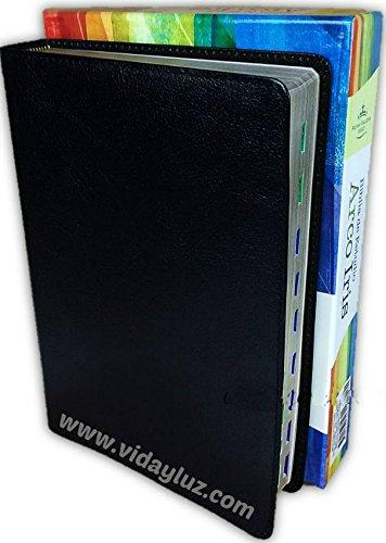 Compare Textbook Prices for Biblia de Estudio Arco Iris Piel Fabricada Negra con Index  ISBN 9781433649301 by Reina Valera 1960