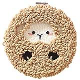 Leic Kit de gancho para alfombras DIY artesanía de tejer Regalo de juguete de bordado de lana con aguja de perforación de marco de bordado de 20 x 20 cm para Universal