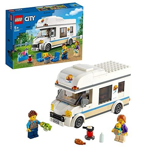 LEGO 60283 City Grandes Vehículos Autocaravana de Vacaciones, Set de Juego para Niños y Niñas +5 Años, con Minifiguras