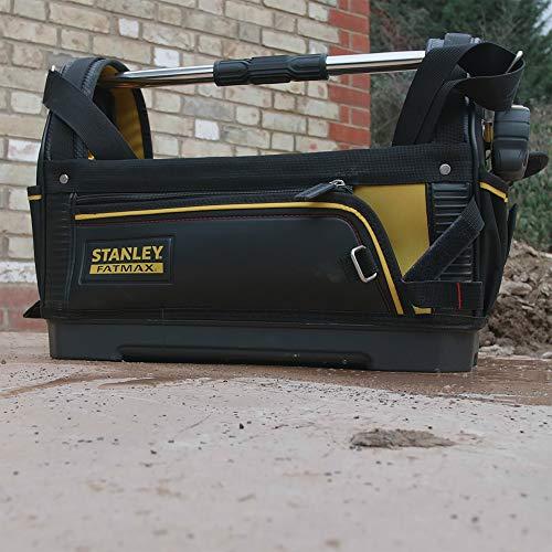 Stanley FatMax Werkzeugtrage, 48x33x22cm, 600 Denier Nylon, wasserdichter Kunststoffboden, ergonomischer Gummigriff, Rahmen stahlverstärkt, verstellbarer Schultergurt, 1-93-951 - 12