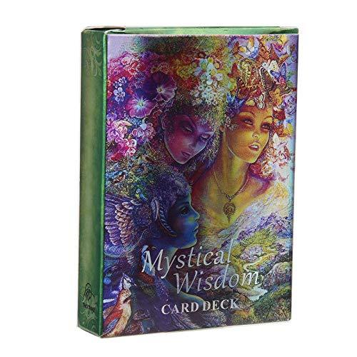 Fockety Divination Divinationskort för vuxna, raffinerad bordskort, utsökt divinationskort, för nybörjare gåvor flickor hem (Mystisk visdom orracle)