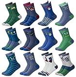 MC.TAM® Herren Damen Jungen Mädchen Bunte Socken Strümpfe 12 Paar 90prozent Baumwolle Oeko Tex® Standard 100, 35-38, 12 Paar FV003