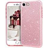 MATEPROX iPhone SE 2020 case,iPhone 8 case,iPhone 7 Glitter Bling Sparkle Cute Girls Women Protective Case for 4.7' iPhone 7/8/SE (Pink)