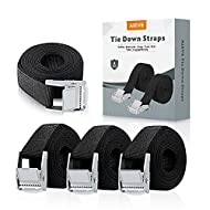 Specifications: The Tie Down Strap is 2 cm (65 ft) long and 25 mm (0.98 inch) wide. The metal lock on the head is 4 cm long and 3 cm wide. Widely used: AIEVE Lashing Straps is suitable for bicycles, kayaks, mobile canoes, roof racks and other items, ...