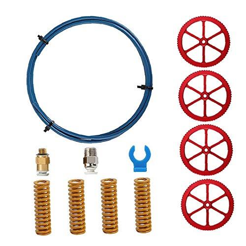 LjzlSxMF 3D-Drucker Kit Zubehör Teile PETG Hand Twist Nut Pneumatische Kupplungen Feder Kompatibel mit Ender 3/3 Pro / 5 CR 10 4PCS Durable