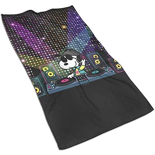 DJ Snoopy Soft Super Absorbent Schnelltrocknendes Handtuch Badetuch Strandtuch - 27,5 x 17,5 Zoll