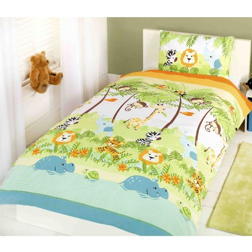 Parure de lit avec Motif Jungle Boggie pour garçon Multicolore