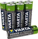 Varta Ready2Use - Pilas Recargables AA Recargables (2100 mAh, Ni-MH, Recargables, sin Efecto Memoria, 8 Unidades)