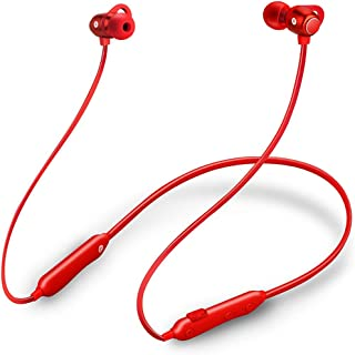 GLJJQMY Wireless Sports Bluetooth Headset 4.1 Hanging Earbuds Hanging Neck-Mounted Stereo Ears Bluetooth Earphone (Color : RED)