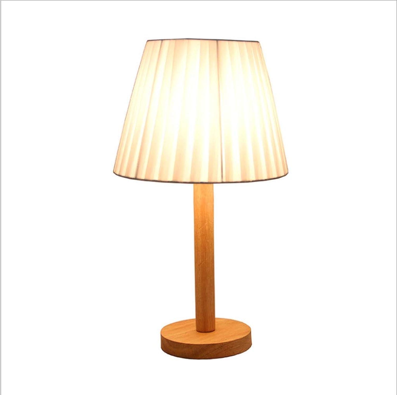 Massivholzlampe LED Wohnzimmer Studie Schlafzimmer Nachttischlampe Moderne Minimalistische Warme Ursprüngliche Holztischlampe (Farbe   D)