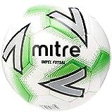 Mitre Impel - Balón de fútbol Sala, Color Blanco y Verde, Talla 3