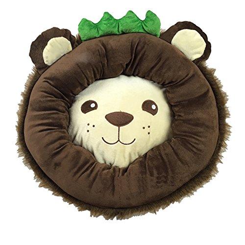 Icegrey Fleece Leuke leeuwenvorm hondenbed hondenmand kattenbed bruin 52x52x16cm