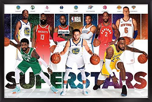 Trends International NBA League - Superstars 18 Wall Poster, 22.375' x 34', Black Framed Version