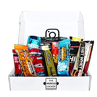 Protein bar Snack Box whey Protein Isolate Protein Cookies Healthy Snacks Low Calorie Protein Snacks Selection Packs Low carb high Protein flapjack Bars The Muscle Locker from The Muscle Locker
