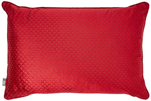 Just Contempo Coussin Garni de géométrique, Rouge, 40,6 x 61 cm