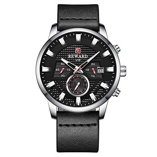 CHICAI Moda Negro Impermeable Reloj Hombres Marca Cronógrafo Hombres Relojes Deporte Cuarzo Reloj