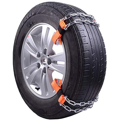 cypressen 10 unidades Auto cadenas de nieve, universal antideslizante cadenas Fit para coche/SUV neumáticos de ancho con menos de 245 mm, antideslizante de acero cadena nieve barro Auto seguridad neumáticos cinturón clip on cadena