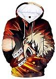 HAOSHENG Mujer Hombre Sudaderas My Hero Academia Impresión 3D Anime Japonés Bakugo Hoodie Mangas Largas(M)