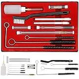 CANOPUS 23 PZs Kit de limpieza profesional para pistola de pulverización, Juego completo para limpieza de pistolas pulverizadoras HVLP, Pistolas de pintura, herramientas neumáticas, aerógrafo