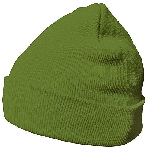 DonDon gorro de invierno gorro de abrigo diseño clásico moderno y suave Verde lima