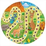 LCGGDB Board Game Flannel Throw Blanket,Australia Fun Wildlife Printed Soft Receiving Blanket Baby Shower Swaddle Blanket for Crib or Stroller, Round 31.5 Inches