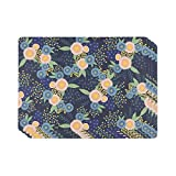 Now Designs 1777049aa Cork-Backed Hard Placemats, Set of Four, Rosa, 4 Count