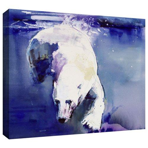 ArtWall Mark Adlington 'Underwater Bear' - Lienzo decorativo envuelto en galería, 60,96 x 81,28 cm