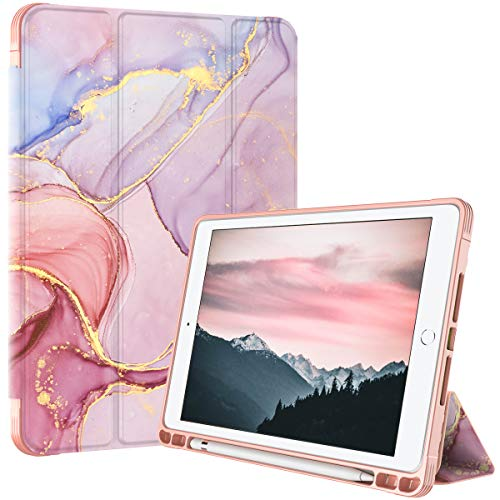 PIXIU ipad 10.2 case with Pencil Holder ,iPad 8th/7th Generation Case,Full Body Protective Filio Smart case Cover with Wake/Sleep Feature for iPad 10.2 inch 2019 & 2020 Release