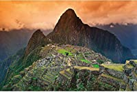 QQYYYT ウォールアートポスター-マチュピチュ壁画装飾南アメリカペルーアトラクションインカシティ遺跡ユネスコ世界遺産文化的景観壁画ポスター壁装飾絵画