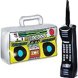 Gejoy 2 Stücke Aufblasbare Radio Boombox Aufblasbare Handy