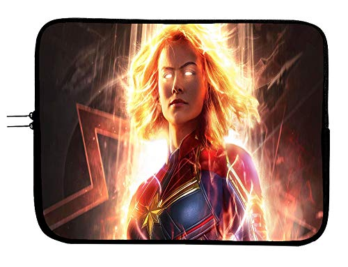 Brand3 Captain Marvel 15 Inch Laptop Sleeve Bag Laptop Case Mousepad Surface Protect Your Device in Style Superhero Computer Bag Laptop/Tablet Sleeve Protector