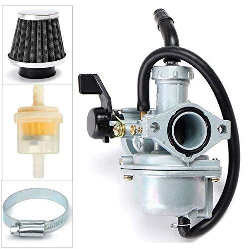 Partes de motocicleta Carburador práctico for carbohidratos y filtros de gas y filtro de aire for HO-N-DA CRF70F XR70R 21 Fácil de reemplazar (Color : Gray)