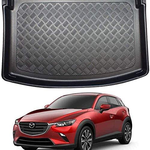 Coche Alfombrillas Maletero para Mazda CX-3 (2015 on), Forro Maletero Trasero Alfombrillas Impermeable Interior Protectora Accesorios