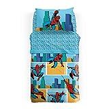 Caleffi Marvel Tagesdecke Spider Man America aus Baumwolle Panama für Jungen Einzelbett Unica