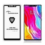 SHUFEIVICC Pantalla Completa Completa Pegamento Anti-Huella Digital de Cristal Templado de Cine for Xiaomi MI 8 SE (Negro) (Color : Black)