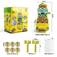 VATOS Acchiappa la Talpa,Mini-Giocattolo elettronico Arcade,Giocattolo Fornito di Monete e di 2 martelli Giocattolo,Gioco interattivo per i Bambini e Bambini di età Compresa tra 3-6 Anni #8